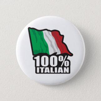 100%年のイタリア語 缶バッジ