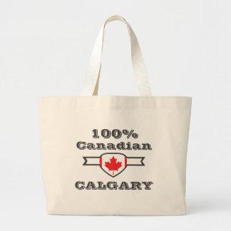100%年のカルガリー ラージトートバッグ