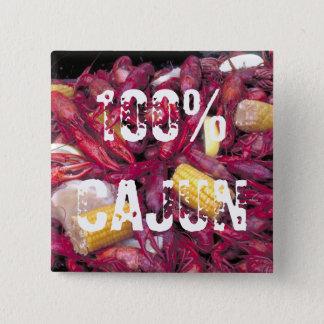 100%年のケージャンボタンのcrawfishの写真 缶バッジ