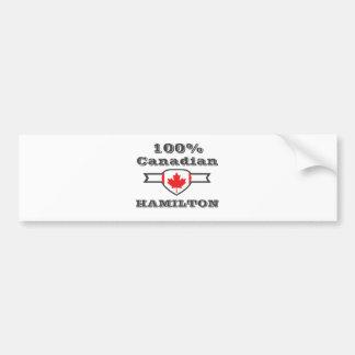 100%年のハミルトン バンパーステッカー