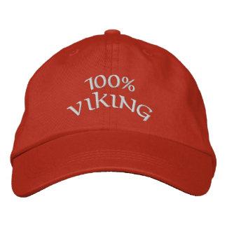 100%年のバイキング 刺繍入りキャップ