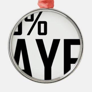 100%年のバイヤー メタルオーナメント