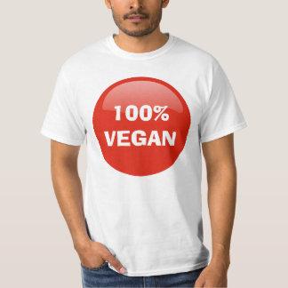 100%年のビーガンのTシャツ Tシャツ