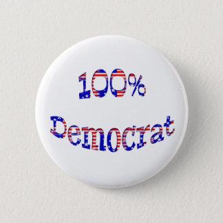 100%年の民主党員の赤白青はバッジにボタンをかけます 缶バッジ