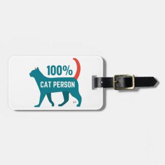 100%年の猫人の荷物のラベル ラゲッジタグ