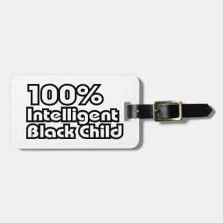 100%年の知性があるで黒い子供 ラゲッジタグ