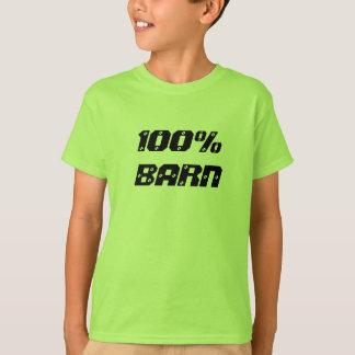100%年の納屋  100%年の子供 Tシャツ
