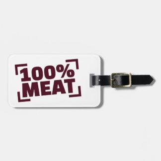 100%年の肉 ラゲッジタグ