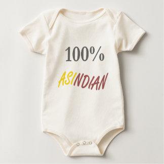 100%年のAsindianの乳児のクリーパー ベビーボディスーツ