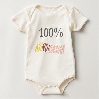 100%年のAsindicasianの幼児オーガニックなクリーパー ベビーボディスーツ
