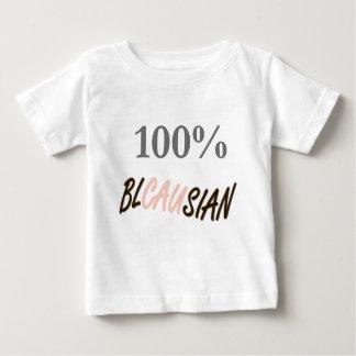 100%年のBlacausianの乳児のTシャツ ベビーTシャツ