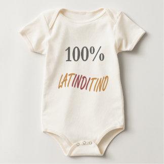 100%年のLatinditinoの乳児のTシャツ ベビーボディスーツ
