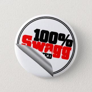 100%年のSwaggの公認ボタン 5.7cm 丸型バッジ
