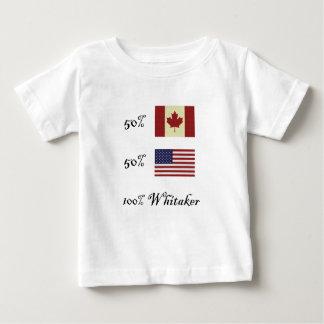 100%年のWhitaker ベビーTシャツ