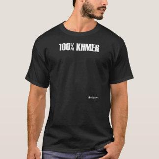 100%年クメール王国-黒の Tシャツ