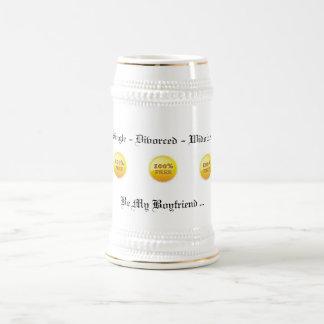 100%自由なステインのマグ(ホワイトゴールド) 18のoz ビールジョッキ
