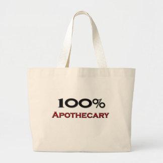 100%薬剤師 ラージトートバッグ