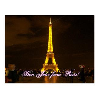 100_0432、パリからのBonJour! ポストカード