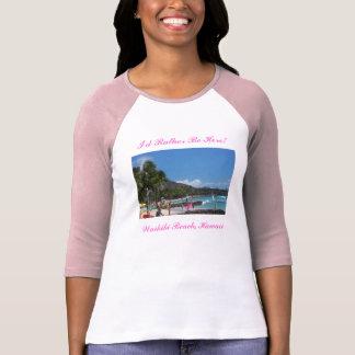100_2548_edited、私はここにむしろいます! 、Waikiki B… Tシャツ