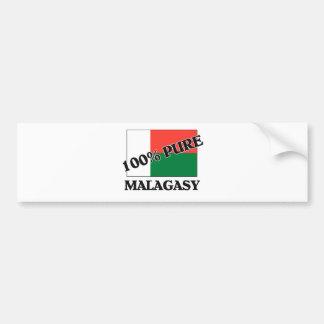 100% MALAGASY バンパーステッカー