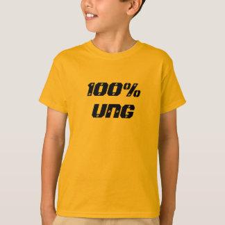 100% Ung  100%の若者 Tシャツ