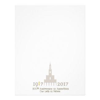 100th亡霊の記念日-ファティマポルトガル レターヘッド