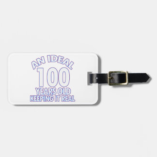 100th誕生日のデザイン ラゲッジタグ