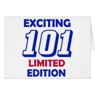 101の誕生日のデザイン カード