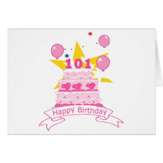 101歳のお誕生日ケーキ カード