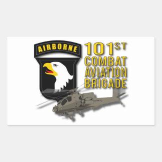 101st戦闘任務航空部隊-アパッシュ 長方形シール