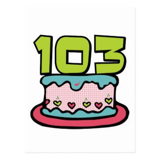 103歳のお誕生日ケーキ ポストカード