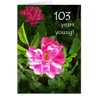 103rdバースデー・カード-ピンクのバラ カード
