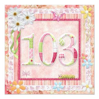 103rd誕生会のスクラップブック作りのスタイル カード