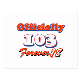 103rd誕生日のデザイン ポストカード