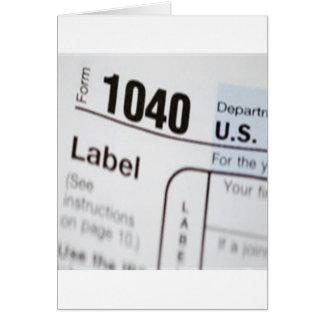 1040Tax カード