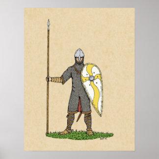 1066年頃ノルマンの騎士、 ポスター