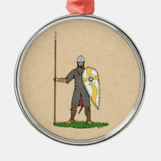 1066年頃ノルマンの騎士、 メタルオーナメント