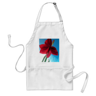 108a鮮やかで赤いアマリリスの花 スタンダードエプロン