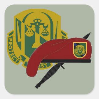 108TH憲兵CO第18の空輸のステッカー スクエアシール