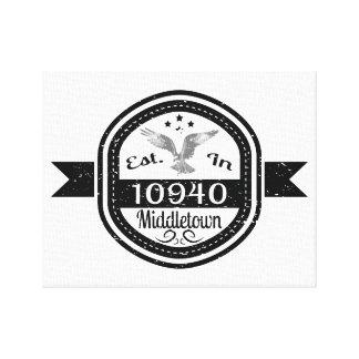 10940 Middletownに確立される キャンバスプリント
