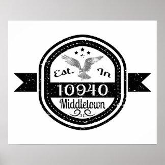 10940 Middletownに確立される ポスター