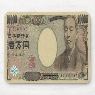 10,000の日本円の銀行券のマウスパッド マウスパッド