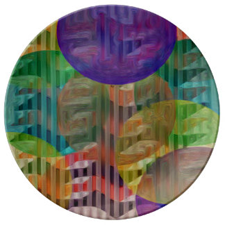 """10.75""""装飾的な磁器皿 磁器プレート"""