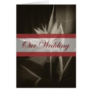 10 Antiqued極楽鳥私達の結婚式 カード