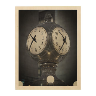"10"" x8""木製の壁の芸術の時計壮大な中央ニューヨーク ウッドウォールアート"