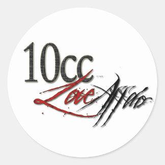 10cc情事のステッカー ラウンドシール