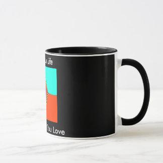 """11のOz """"あなたの生命""""は住んでいます。 やる気を起こさせるなコーヒー・マグ マグカップ"""