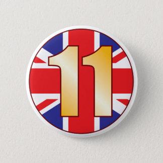 11イギリスの金ゴールド 缶バッジ