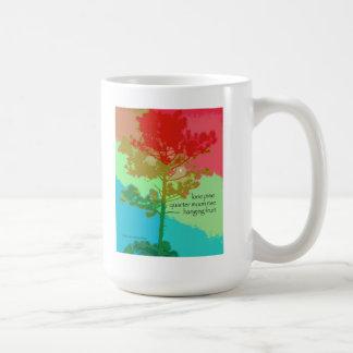 11マグ-元の芸術及び俳句-単独マツ コーヒーマグカップ