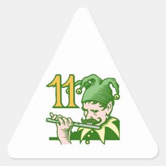 11人のパイパーの配管 三角形シール